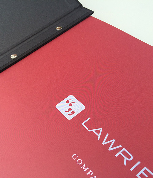 Lawrie Cornish: bespoke agency pitch book