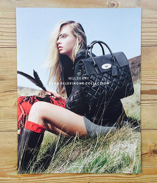 Mulberry: Cara Delevingne look-book printing
