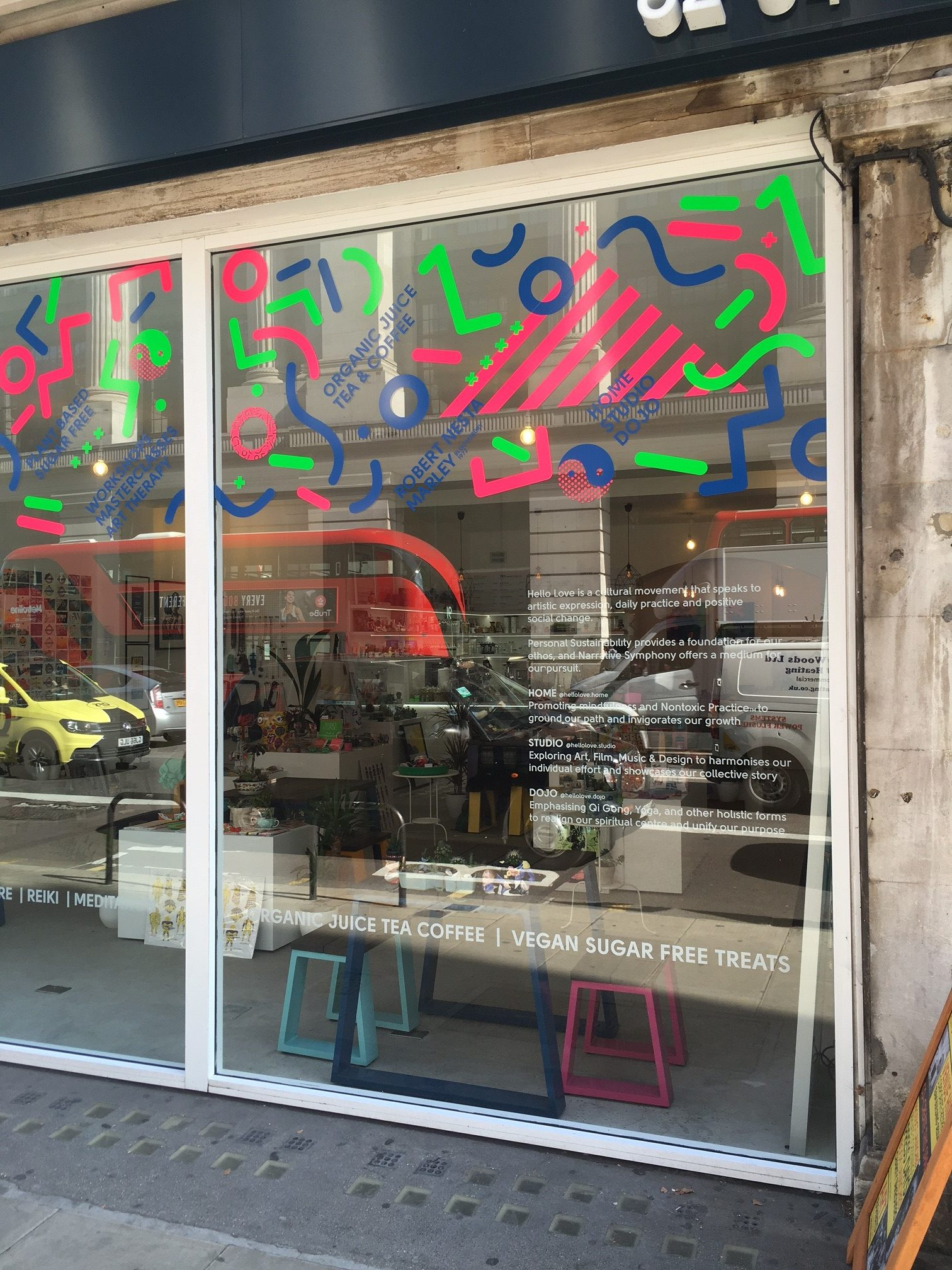 Hello Love Space: shop window vinyls