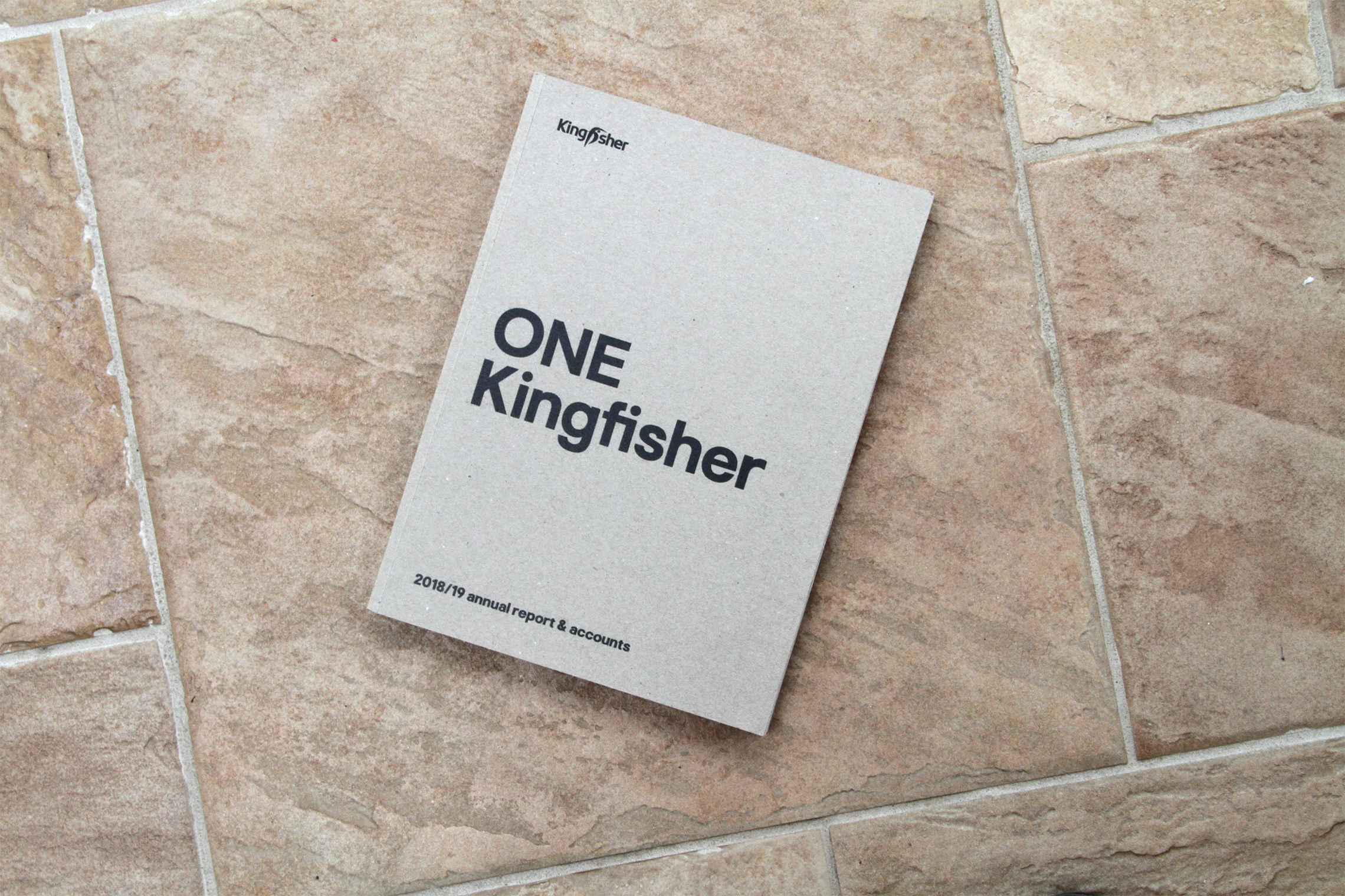 Kingfisher annual report: sustainable printing