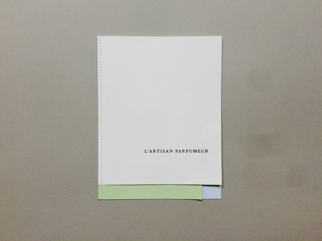 L'Artisan Parfumeur: look-book printing