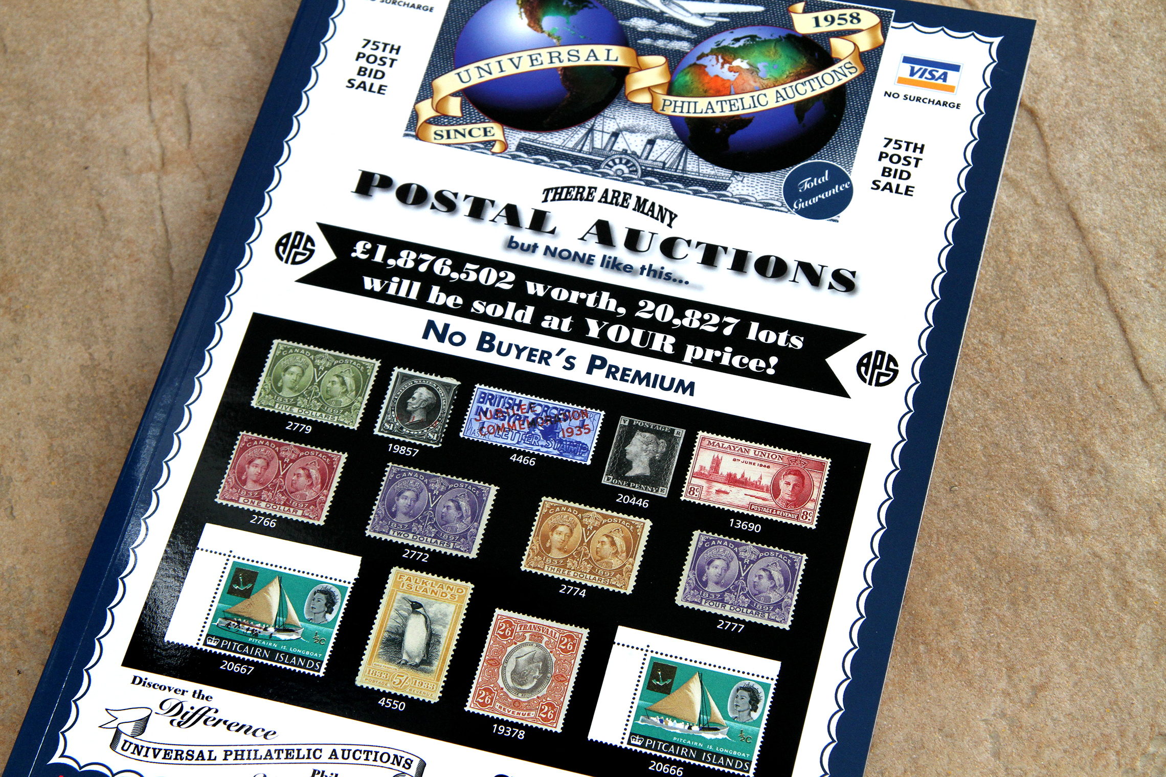 Universal Philatelic Auctions: catalogue printing