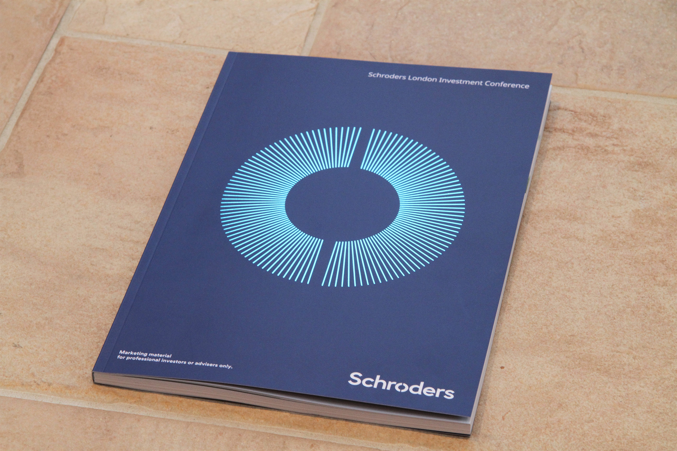 Schroders: sustainably printed marketing material