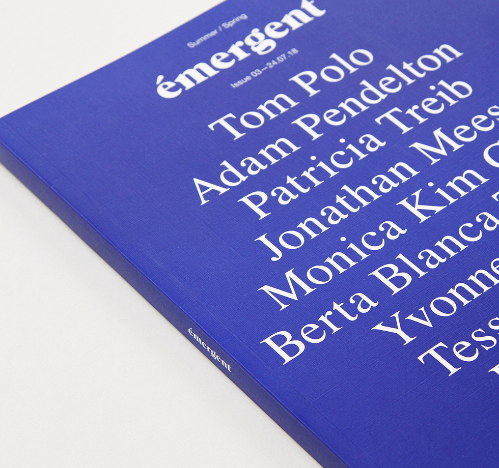 Emergent: sustainably printed art magazine