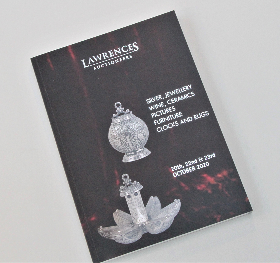 Auction catalogue printing and image retouching for Lawrences