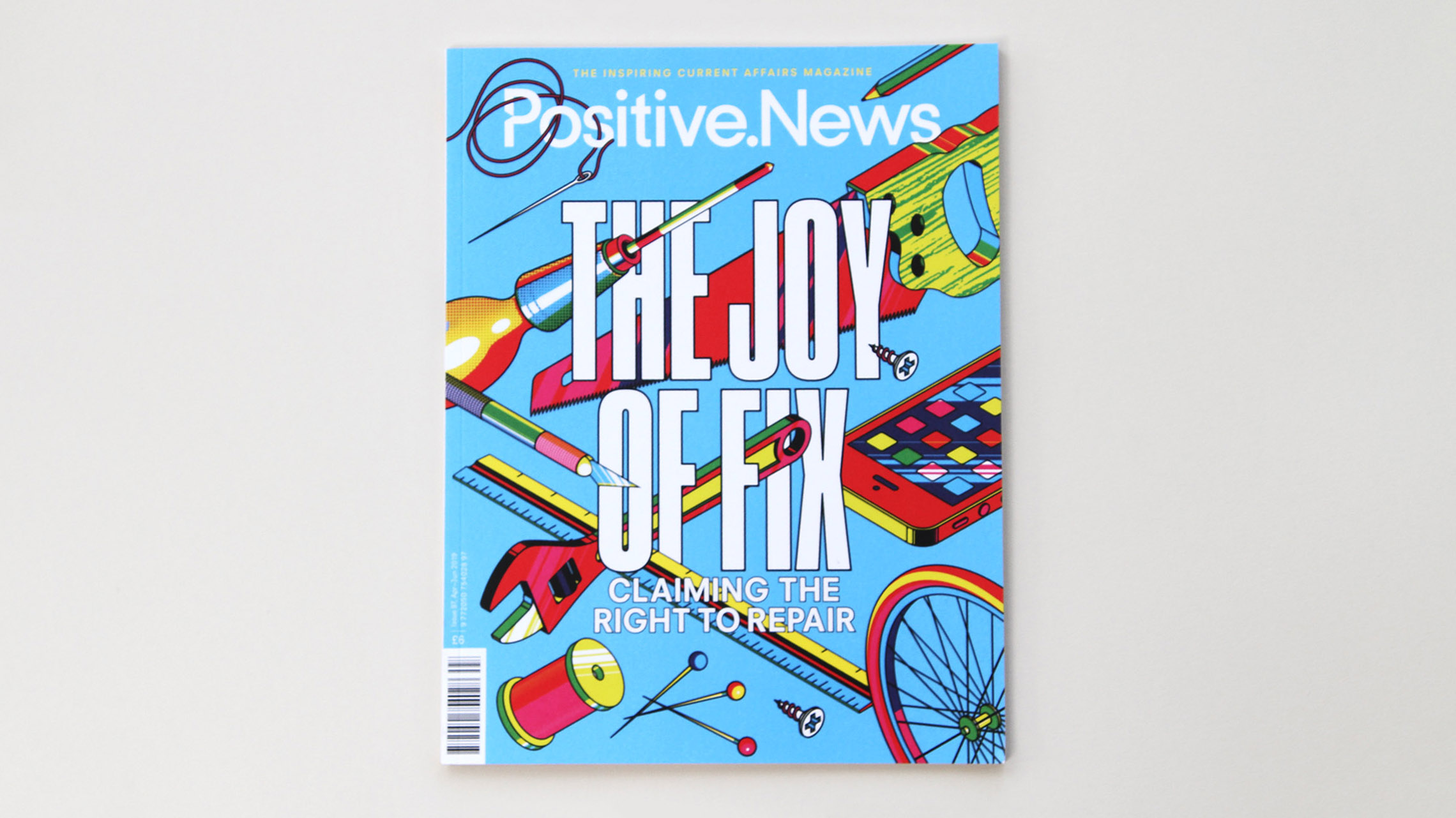 Positive News magazine: carbon neutral printing