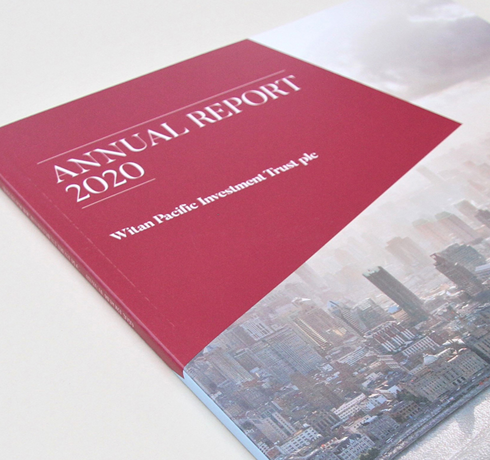 Witan Pacific: annual report printing & typesetting