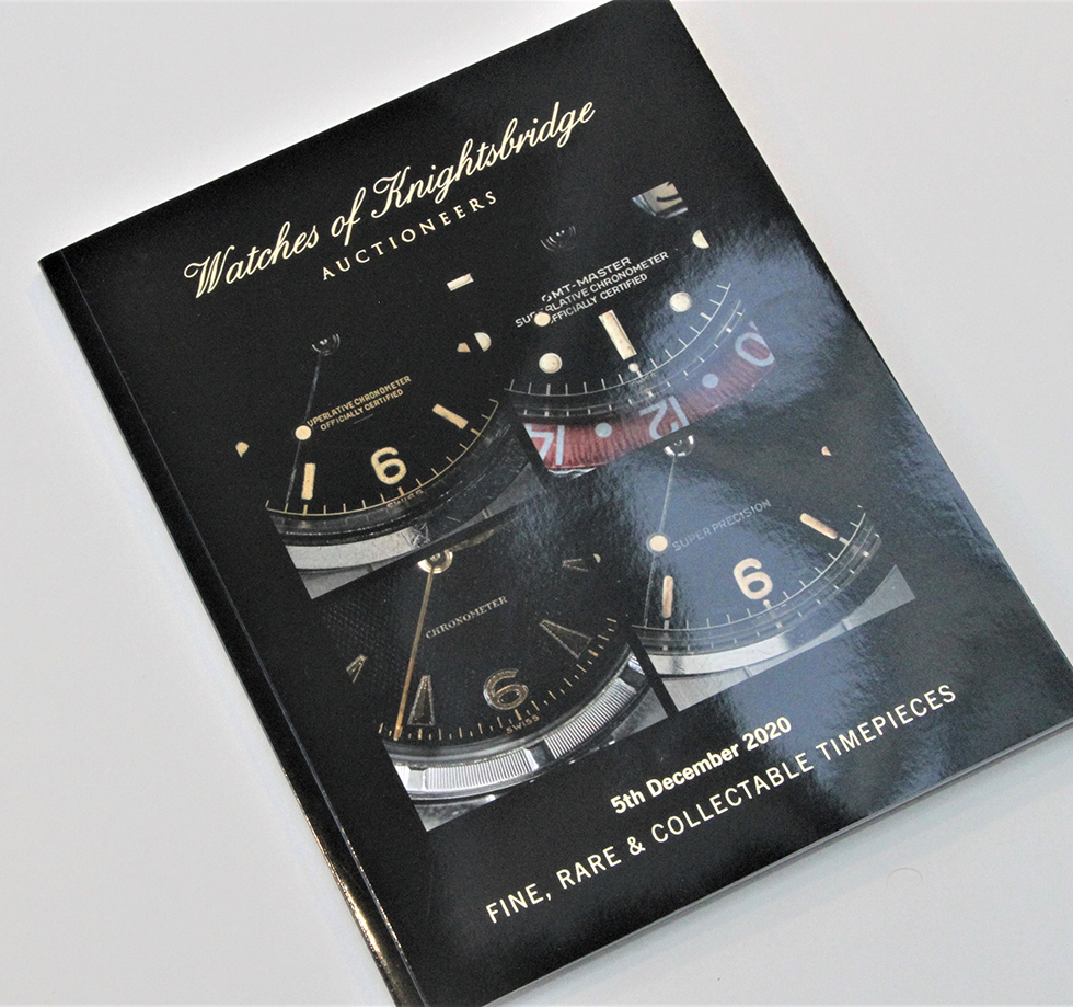Auction catalogue design & printing for Watches of Knightsbridge