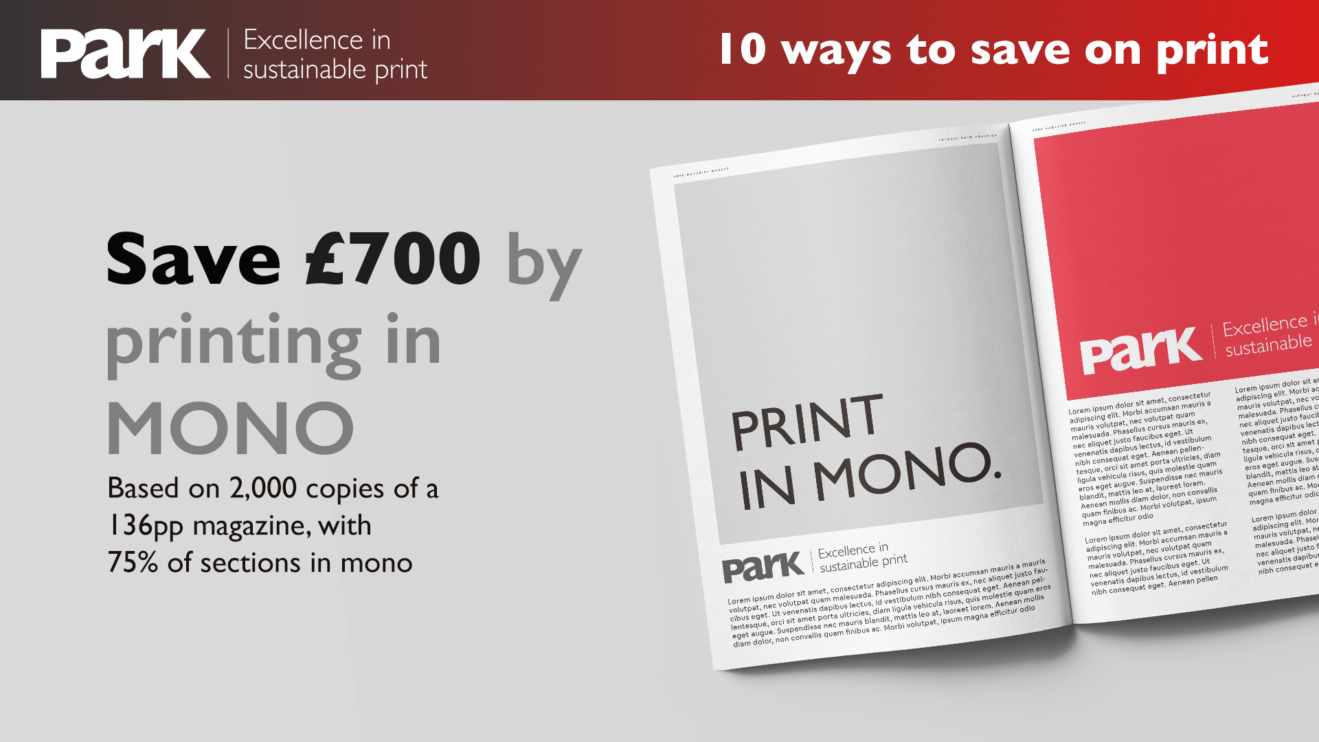 print in mono to reduce print costs