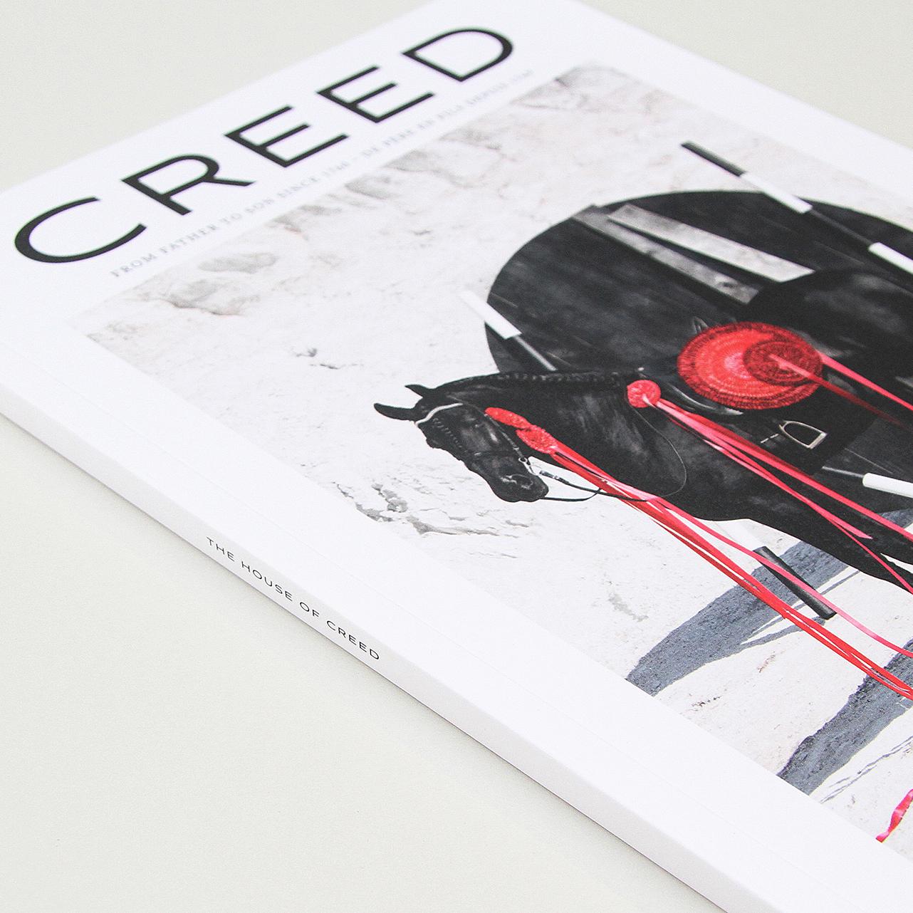 Creed: luxury brand magazine in three languages